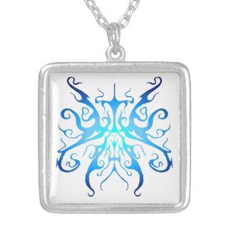 Collier Tatouage tribal d'élégance - Hue bleu