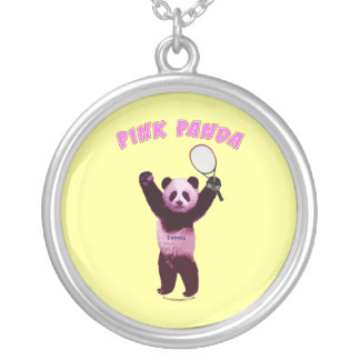 Collier Tennis rose d'ours panda