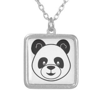 Collier Tete de panda noir et blanc