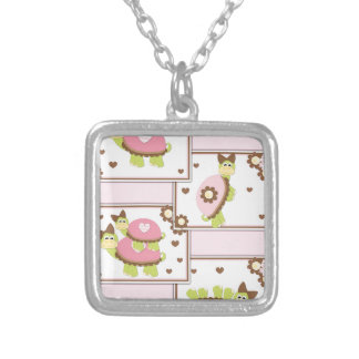 Collier Tortue rose de filles