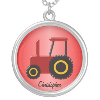 Collier Tracteur rouge