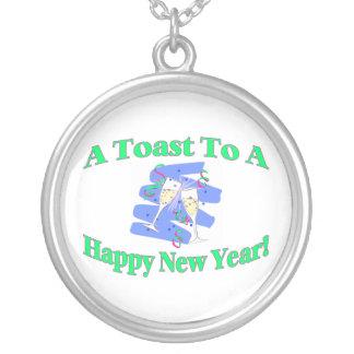 Collier Un pain grillé de nouvelle année