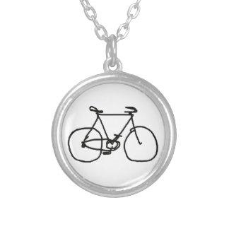Collier une bicyclette noire stylisée