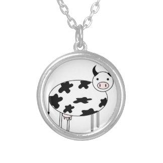Collier Vache illustrée