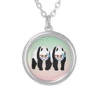 Collier Verres de port de panda gai drôle