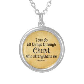 Collier Vers de bible : Je peux faire tout des choses par
