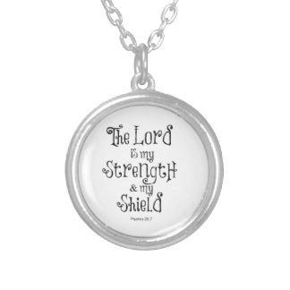 Collier Vers de bible : Le seigneur est ma force