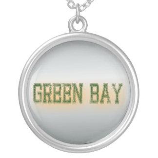 Collier Vert de Green Bay et grunge d'or