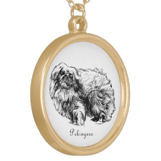 Collier vintage d'illustration de chien de