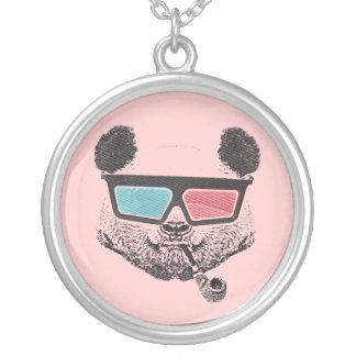 Collier Vintage panda 3-D glasses