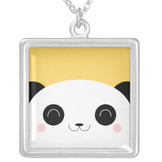 Collier Visage semi-transparent mignon de panda de Kawaii
