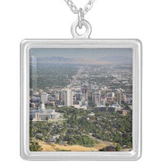 Collier Vue aérienne de Salt Lake City du centre, Utah