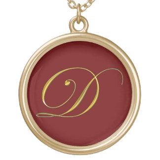 Colliers initiaux des monogrammes D d'or