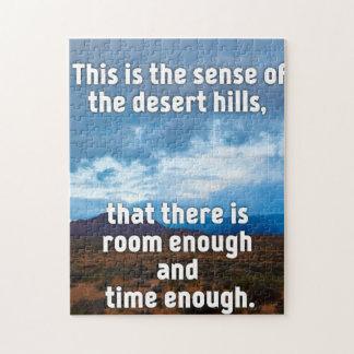 Collines de désert puzzle