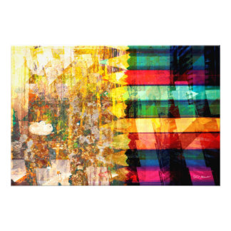 Collision abstraite tirage photo