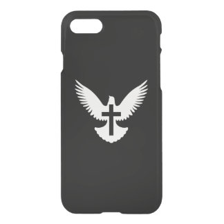Colombe avec la croix coque iPhone 7