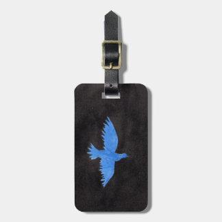 Colombe bleue étiquette à bagage
