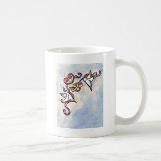 Colombes d'anneau de mariage mug
