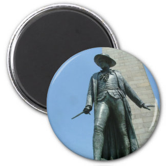 Colonel William Prescott Magnet Rond 8 Cm