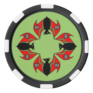 Colonie celtique de noeud de jeton de poker de jetons de poker