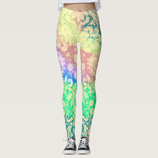 Colorant en pastel de cravate de motifs leggings