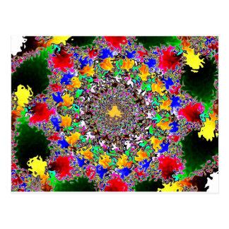Coloré Carte Postale