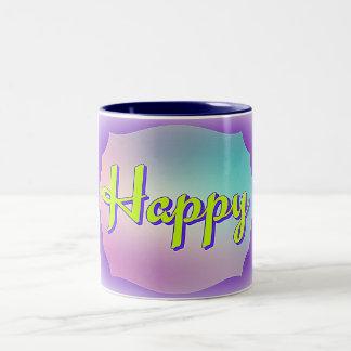 Coloré heureux de tasse d'incantation
