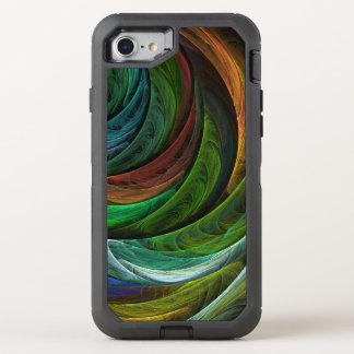 Colorez l'art abstrait de gloire coque otterbox defender pour iPhone 7