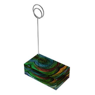 Colorez l'art abstrait de gloire porte-cartes de  table