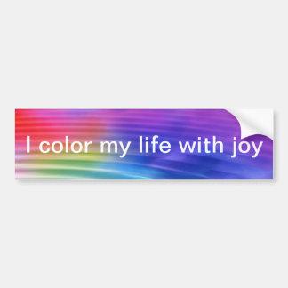 Colorez ma vie avec joie autocollant de voiture