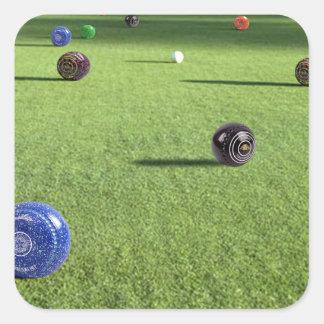 Colorful_Lawn_Bowls, _ Sticker Carré