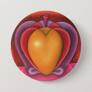 Coloridas Frutas, manzana, mangue, corazón Badge Rond 7,6 Cm