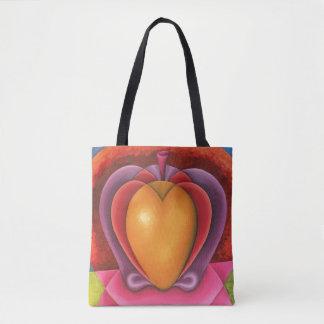 Coloridas Frutas, manzana, mangue, corazón Tote Bag
