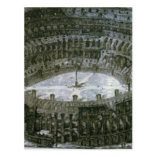 Colosseum avec des stations de la croix par carte postale