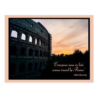 Colosseum romain et citation carte postale
