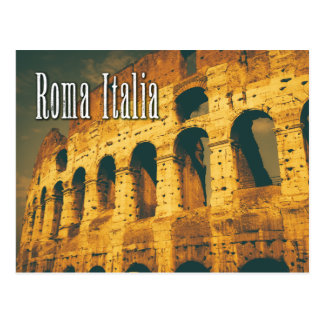 colosseum vintage Roma Italie Carte Postale