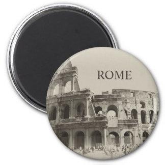 Colosseum vintage - Rome des gladiateurs Magnet Rond 8 Cm