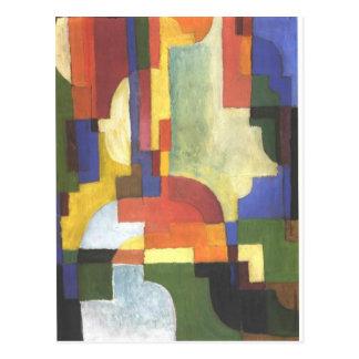 Colourfull forme avant août Macke Carte Postale