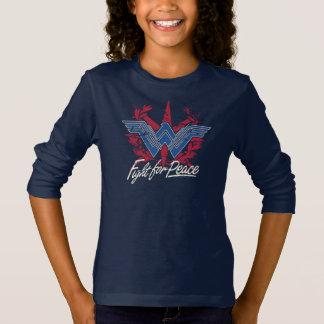 Combat de femme de merveille pour le symbole de t-shirt
