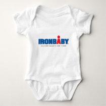 Combinaison de bébé de fer tee-shirt