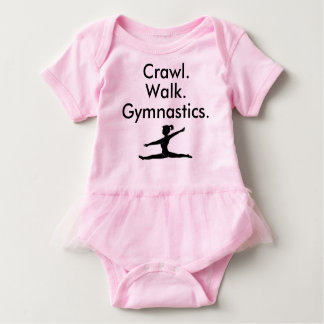 Combinaison de bébé de gymnaste de gymnastique de body