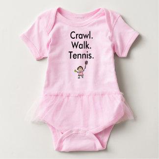 Combinaison de bébé de rose de fille de tennis body