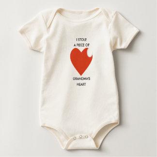 Combinaison de bébé, plante grimpante, coeur de body