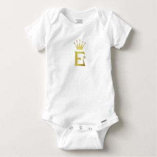 Combinaison initiale de bébé de couronne de body