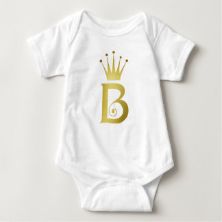 Combinaison initiale de bébé de monogramme de body