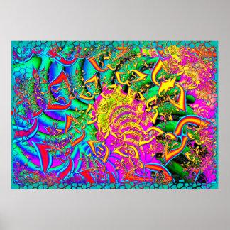Comme la fractale 3D psychédélique de sucrerie