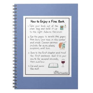 Comment apprécier un carnet fin de bleu de livre