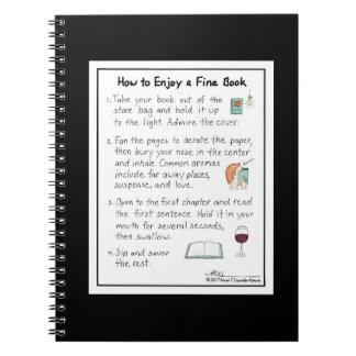 Comment apprécier un carnet fin de noir de livre