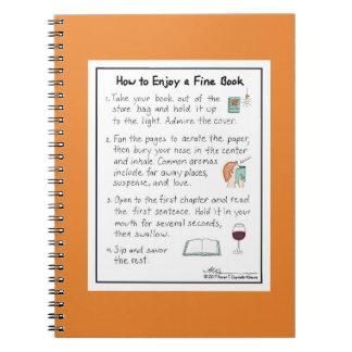 Comment apprécier un carnet fin d'orange de livre