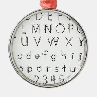 Comment former vos lettres - écriture d'alphabet ornement rond argenté